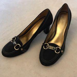 Beautiful Black Charley SIG Coach Heels